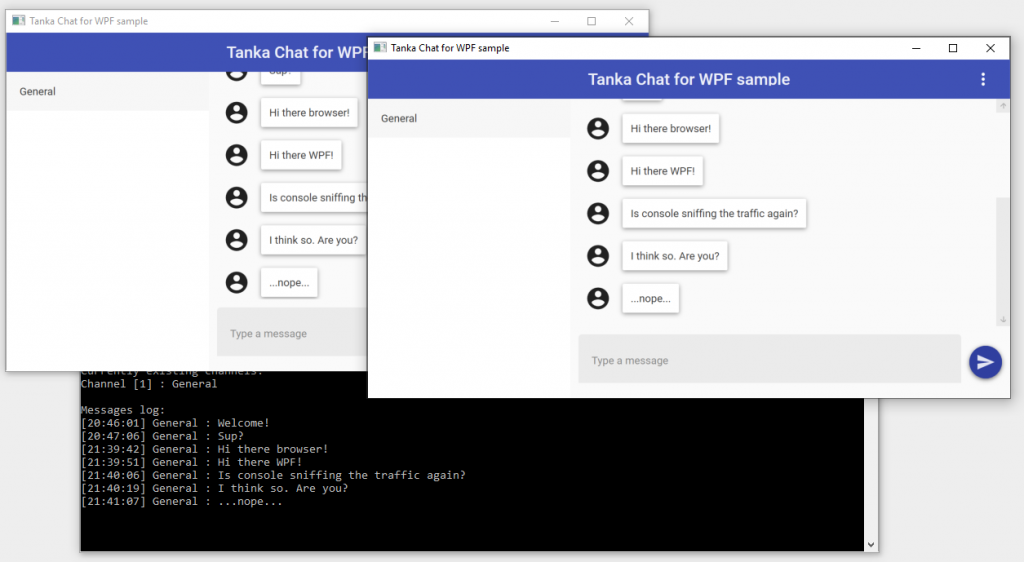Chat demo applications
